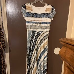 Cato's Long Mult-Color Dress Size Small
